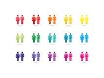 女性和男性标志象 免版税库存图片