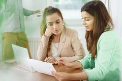 女性图表设计师 免版税库存照片