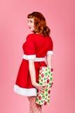 女性圣诞老人 图库摄影