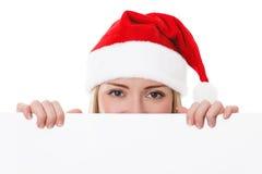 女性圣诞老人 免版税库存照片