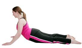 女性姿势瑜伽 免版税库存图片