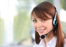 女性客户支持运算符 免版税库存图片