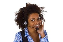 女性客户支持运算符 图库摄影