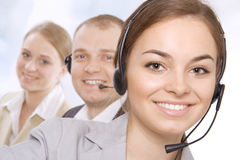 女性客户服务代表特写镜头  库存照片