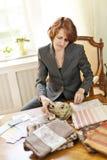 女性室内设计师 免版税库存照片