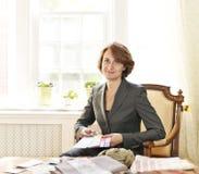 女性室内设计师 免版税库存图片