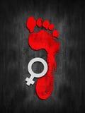 女性家庭暴力 免版税图库摄影