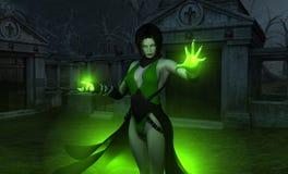 女性巫术师巫师 免版税库存照片