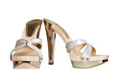 女性平台鞋子 库存图片