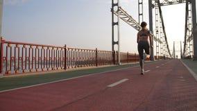 女性开始跑从短跑选手位置 股票录像