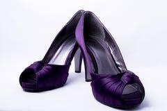 女性开放shoess脚趾二 库存照片