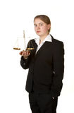 女性律师年轻人 免版税库存图片