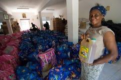 女性志愿者 免版税库存图片