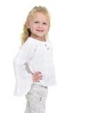 女性愉快的小孩年轻人 免版税图库摄影
