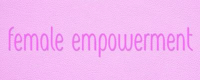 女性或妇女援权桃红色横幅 免版税库存照片