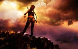 女性战士 免版税库存图片