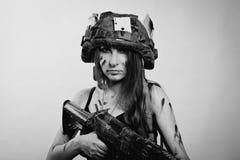 女性战士 免版税图库摄影