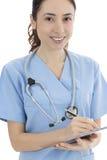 女性护士或医生工作 库存照片