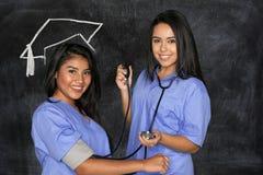 女性护理学生 库存图片