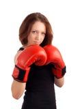 年轻女性拳击手 库存图片