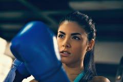 女性拳击手 免版税库存图片