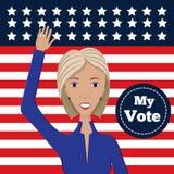 女性政治候选人 库存例证