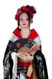 女性日本和服佩带 免版税库存图片