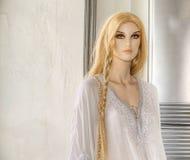 女性时装模特玩偶木偶 库存照片