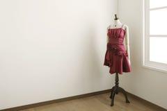 女性时装模特空间白色 库存图片