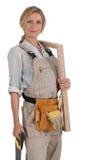 女性木匠 免版税库存照片