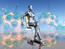女性机器人 库存图片