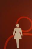 女性标志 库存照片