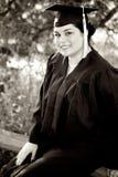 女性毕业 免版税库存照片