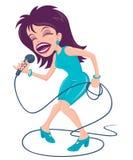 女性流行音乐歌唱家 免版税图库摄影