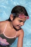 女性游泳者年轻人 免版税库存图片