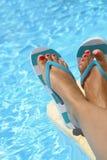 女性湿脚 免版税图库摄影