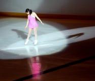女性溜冰者 免版税图库摄影