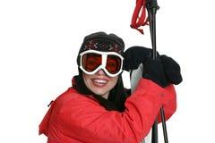 女性滑雪者 免版税图库摄影