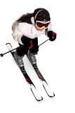 女性滑雪 库存照片