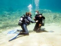 女性潜水者 库存图片