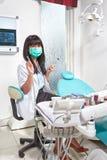 女性牙医 免版税图库摄影
