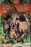 女性狂欢节舞蹈家 免版税库存照片