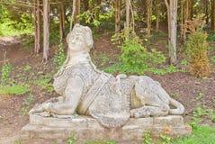 女性狮身人面象雕塑在Valtice宫殿(第18个c ),捷克语关于 免版税库存照片