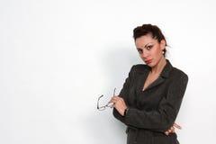 女性现代工作 免版税库存图片