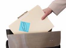 女性现有量计划报废throughing的垃圾 免版税库存图片