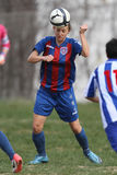女性球员足球 库存图片