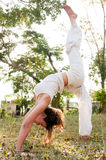 女性瑜伽重要资料 免版税库存图片