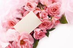 女性生活粉红色仍然上升了 库存照片