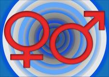 女性男 免版税库存图片