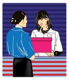 女性界面二 免版税库存照片